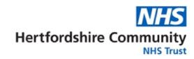 Hertfordshire Community NHS logo